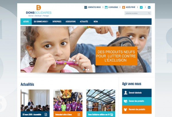 Site web Dons Solidaires